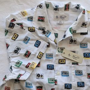 Original Penguin Shirts - Original Penguin Retro Cassette Print Shirt